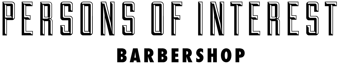 Persons of Interest Brooklyn Barbershop logo